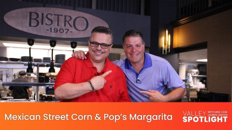 Mexican Street Corn & Pop's Margarita