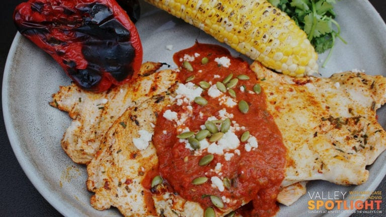 Achiote Chicken with Molcajete Salsa