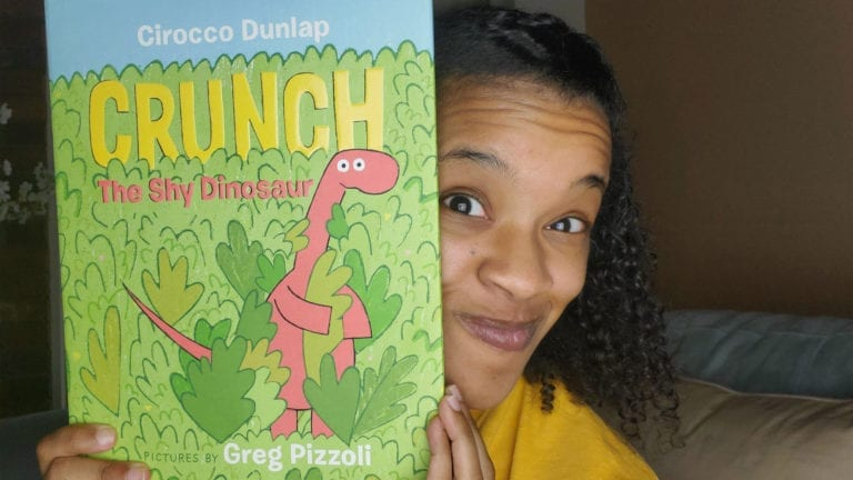 Crunch the Shy Dinosaur by Cirocco Dunlap | Clark's Cozy Corner